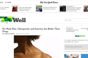 quiropraxia para dor no pescoço